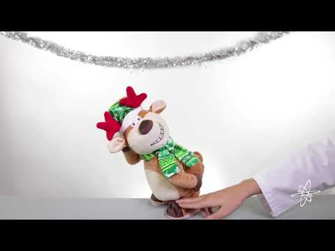 Twerking Naughty Reindeer Animated Adult Musical Plush Toy