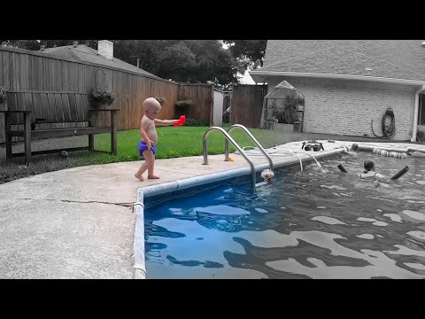 What Happens When you Let a Baby Wander Around a Swimming Pool