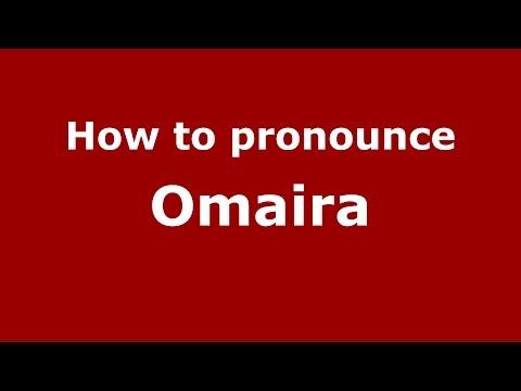 How to pronounce Omaira (Colombian Spanish/Colombia)  - PronounceNames.com