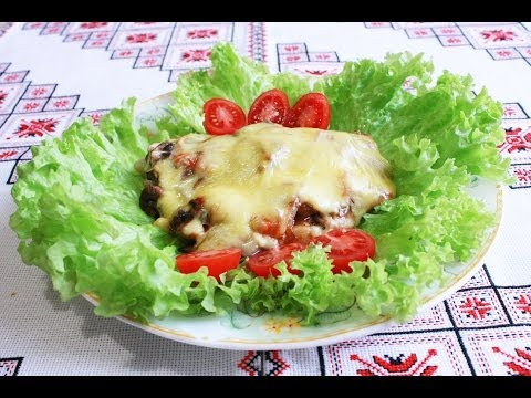 Запеченная рыба в духовке с грибами и сыром Как приготовить рыбу Риба з грибами і сиром жареная рыба