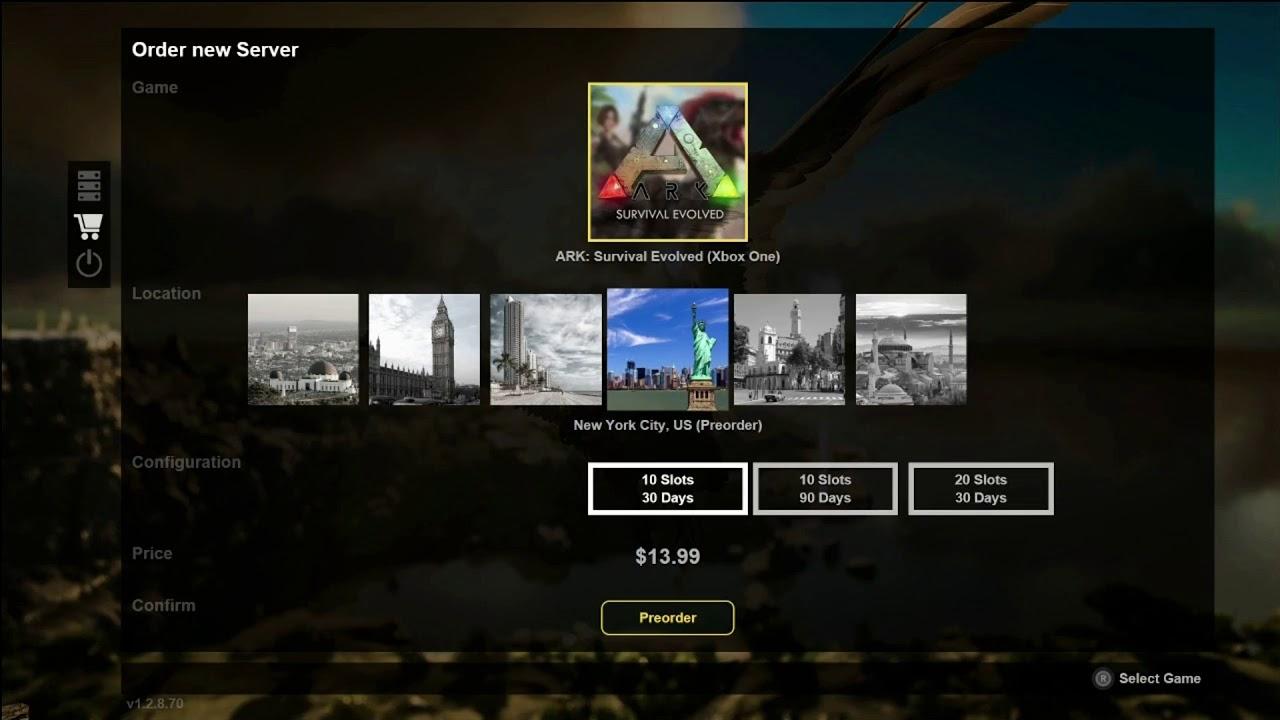 Xbox One Rentable Ark Servers