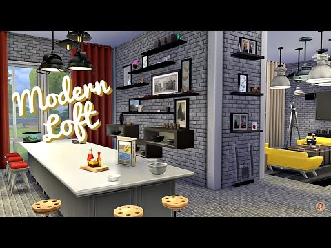 Sims 4 | Room Build: Modern Loft (One Room Apartment)