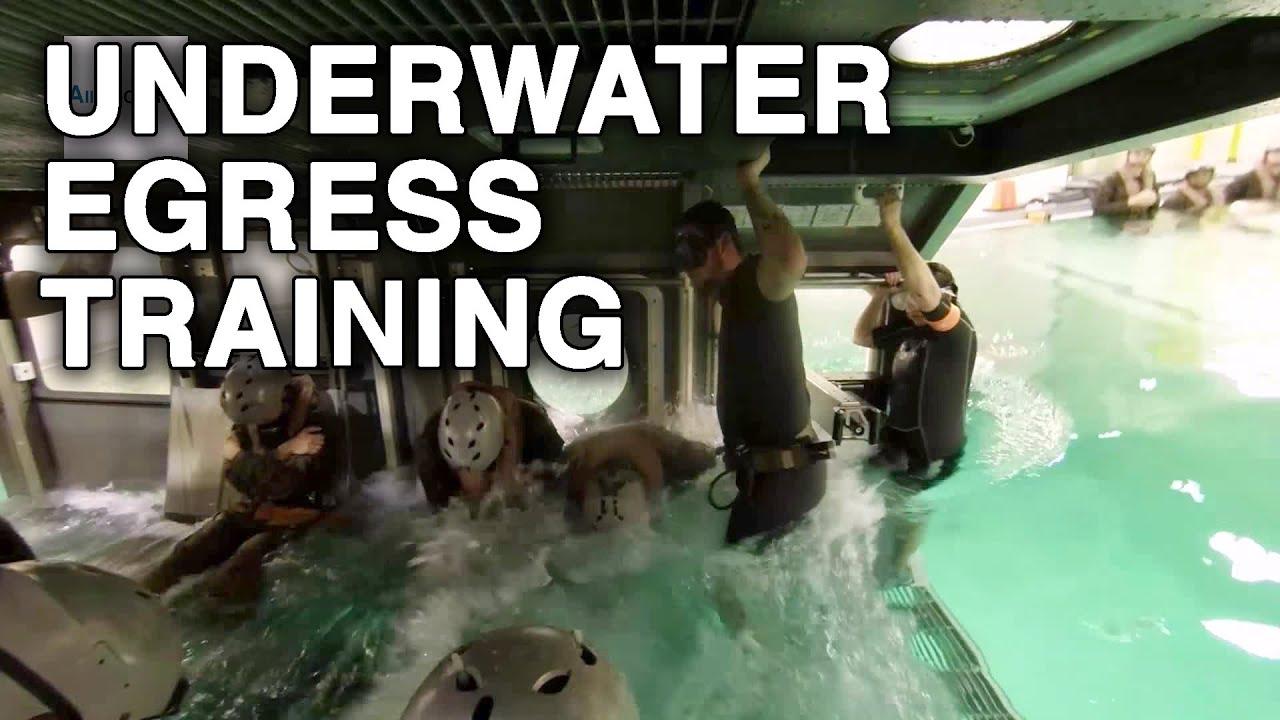 Marines and Sailors in Underwater Egress Training - YouTube