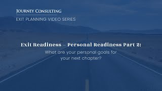 Personal Readiness Part 2: