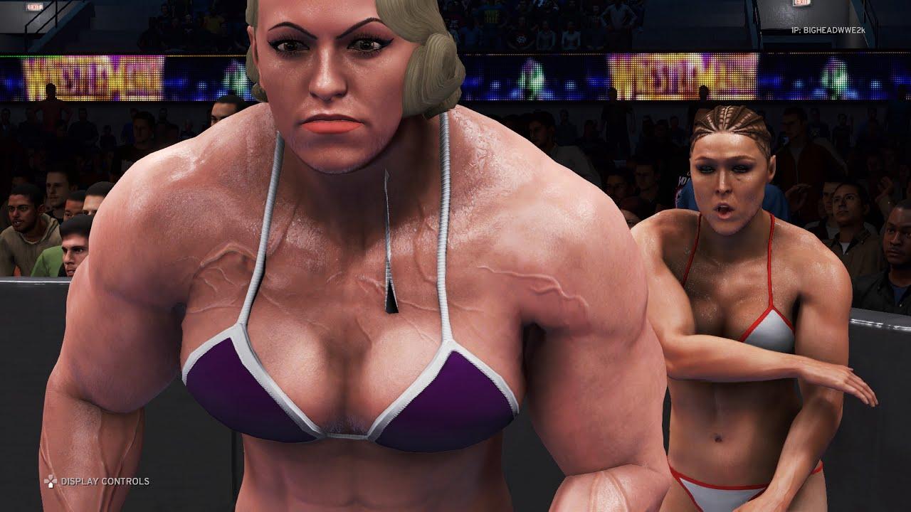 WWE 2K20 - Ronda Rousey vs. Jennifer - Bikini Girl Fights 💜