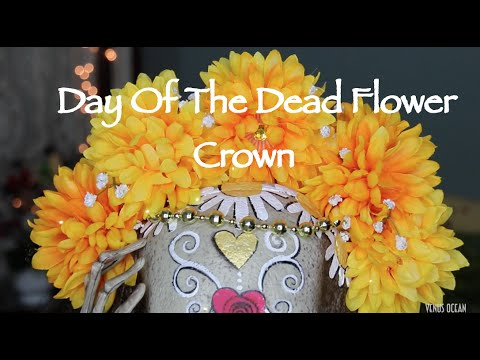 diy flower crown day of the dead youtube