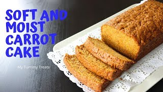SOFT AND MOIST CARROT CAKE RECIPE