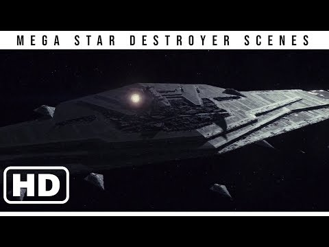 All Mega Star Destroyer Scenes (1080p) -- Star Wars: The Last Jedi