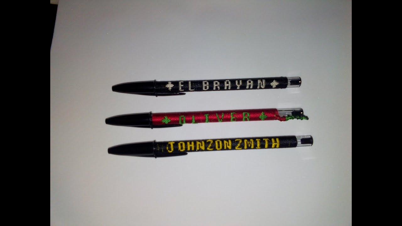 DIY bordar pluma con nombre - Parte 1 - YouTube
