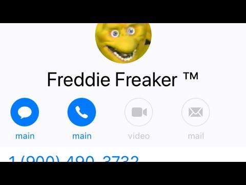 Freddy Freaker Advertisement 1-900-490-FREAK Party Hotline 2 Dollars to Call - Los Angeles