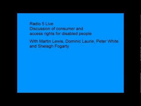 Radio 5 discussion: Consumer and accessibility rights for disabled people
