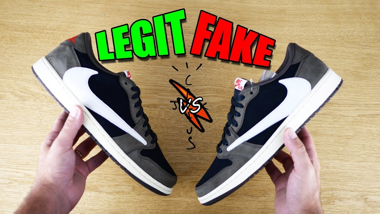 LEGIT vs FAKE AJ1 Low x Travis Scott. Originali vs UA