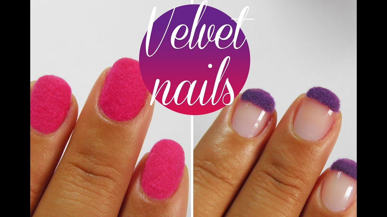 DIY How to: Velvet Flock texture nail art tutorial
