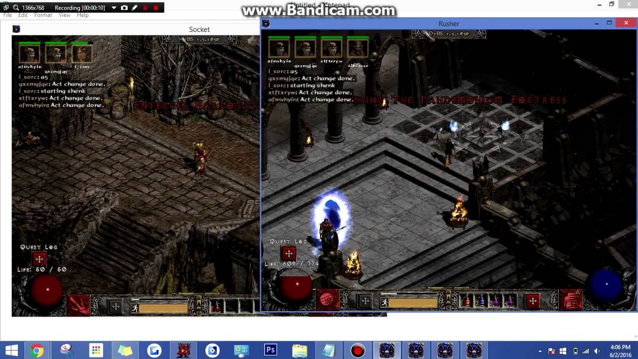 Diablo 2 - Socket Account Making Script by UnstoppableLaughs