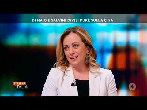 """Giorgia Meloni In diretta da """"Stasera Italia"""" su Rete 4"""