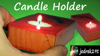 Candle Holder Resin. DIY !!!