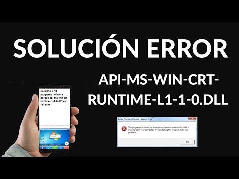"""Solución al Error """"api-ms-win-crt-runtime-l1-1-0.dll"""""""