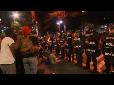 Civilian shot in Charlotte protest on life support
