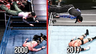 The Evolution Of Jeff Hardy Swanton Bomb & Twist Of Fate ( WWF Smackdown To WWE 2K18 )