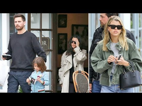Kourtney Kardashian Tries To Drive Sofia Richie's Car After Lunch With Scott Disick In Santa Barbara