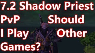 WoW - 7.2 Shadow Priest PvP - Play Other Games? - Battleground w/Commentary