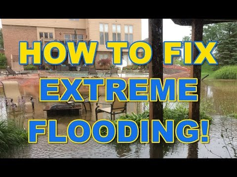 How to Fix Extreme Yard Flooding!