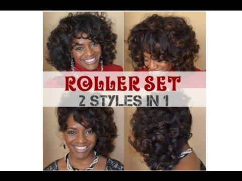 (34) Natural Hair Tutorial - Roller Set 2 in 1 Styling Options