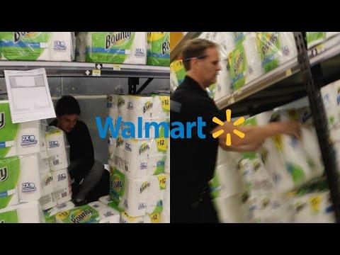 WALMART MANAGER DESTROY'S TOILET PAPER FORT!