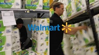 WALMART MANAGER DESTROY'S TOILET PAPER FORT!