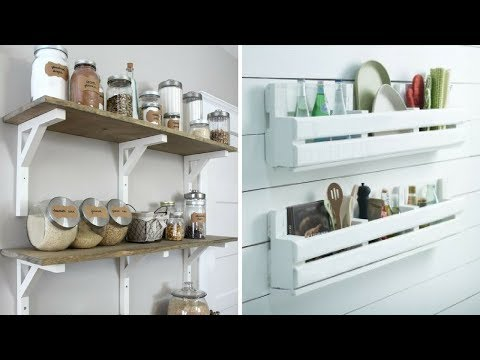 💕 5 DIY Wood Project for More Organized Kitchen 💕