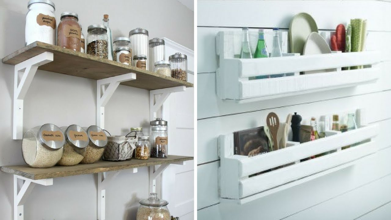 💕 5 DIY Wood Project for More Organized Kitchen 💕 - YouTube