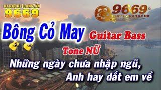 Karaoke Bông Cỏ May | Tone Nữ | Nhạc sống LA STUDIO | Karaoke 9669