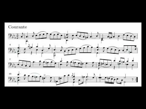 J. S. Bach Cello Suite n. 5 BWV 1011 - 3. Courante - Piano Transcription [tbpt47]