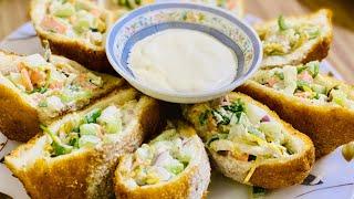 Bread Pocket Shawarma  Easy Bread Pocket Recipe  How to make chicken Bread pocket Shawarma