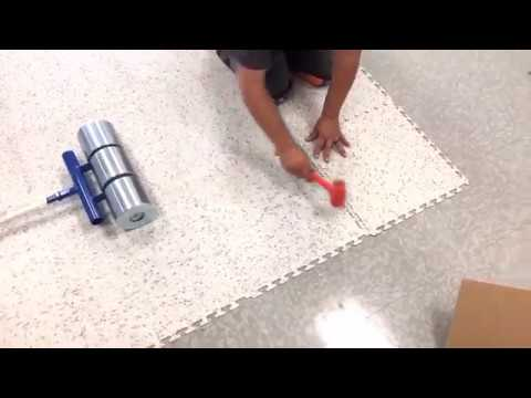 Esd Tile No Odor Tear Out Residues Or Adhesive Youtube