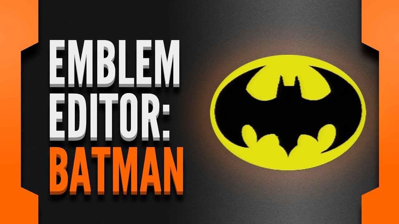 Black Ops 2 Emblem Editor Batman Symbol Tim Burton Style Youtube