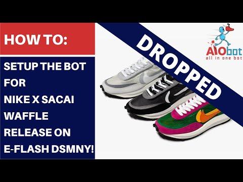 AIO Bot V2 Shopify - How to setup the bot for Nike x Sacai Waffle on E-Flash DSMNY! thumbnail