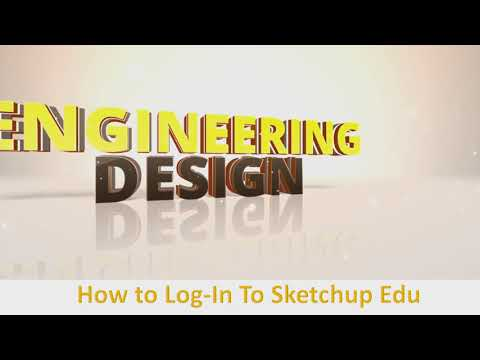 How to Log-In to Sketchup for Education (Edison Computech 7-8)