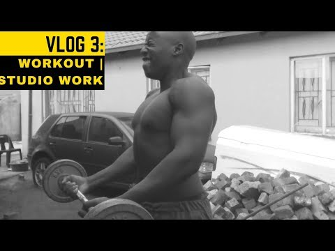 Working out | Studio work  - South African Vlog #3 @streetcarnivore