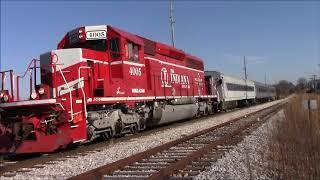 INRD Indiana Railroad Santa Train Linton Indiana 2017