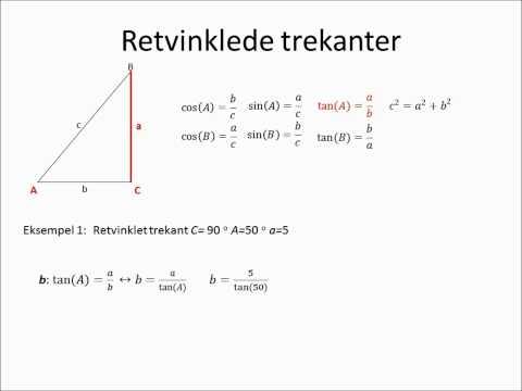 Trekantsberegning - sinus, cosinus, tangens from YouTube · Duration:  8 minutes 18 seconds