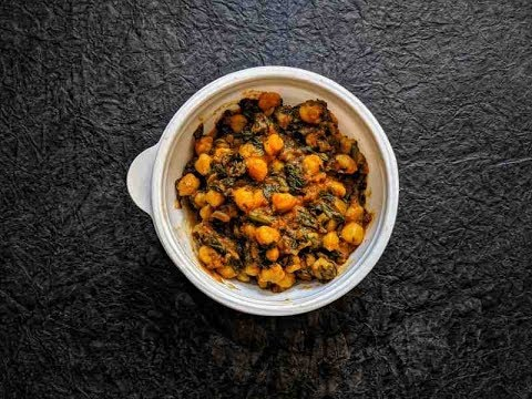 Indian Healthy Food: Chole Palak By Fitinseconds