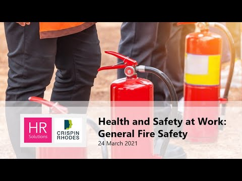 Health and Safety - General Fire Safety