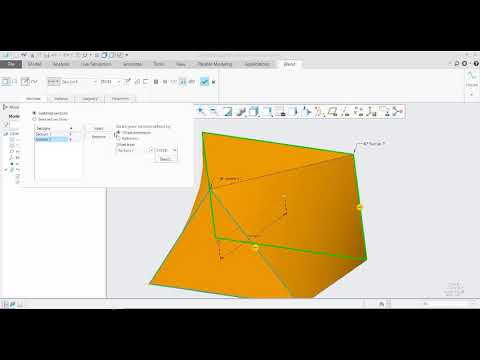 Creating Creo Parametric Blends
