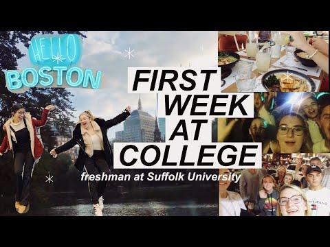 My first week at college in Boston! || Suffolk University