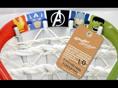 Limited Edition Stylin' Strings Originals Series Design # 1 : Avengers Lacrosse Head Tribute