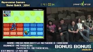 AGDQ 2014 Bonus Stream - Game 68 - Megaman Battle Network 6