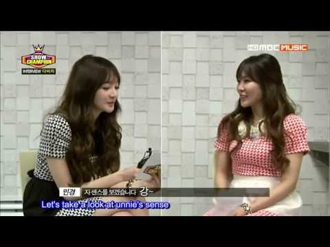 [ENGSUB][130327] Davichi Interviews Each Other @ MBC Show Champion
