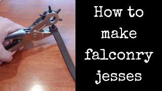 Falconry ~ How To Make Jesses
