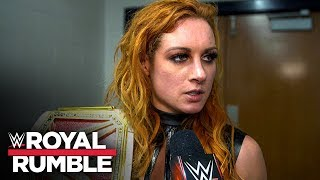 Becky Lynch reflects on her victory over Asuka at Royal Rumble: WWE Exclusive, Jan. 26, 2020
